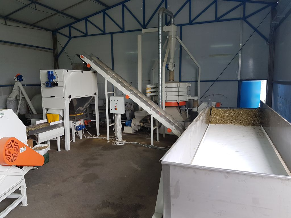 Processing Line For Processing Of Industrial Hemp Herbas