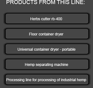 Hemp separating machine | Herbas d o o